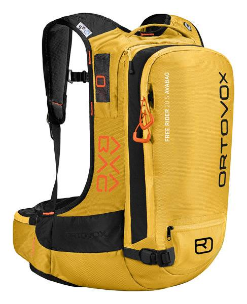 Ortovox Free Rider 22 AVABAG - zaino airbag - Yellow