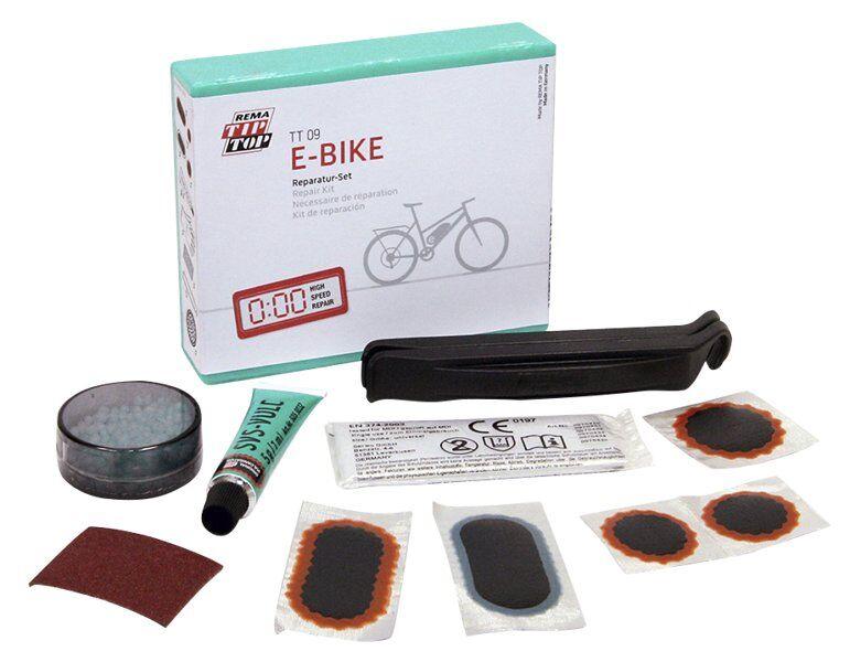 Tip Top Kit di riparazione per bici elettriche TT09 E-bike Rep.Set - Black