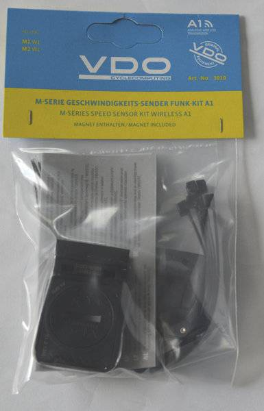 Vdo Kit trasmettitore velocità seconda bici M1/M2 - Black