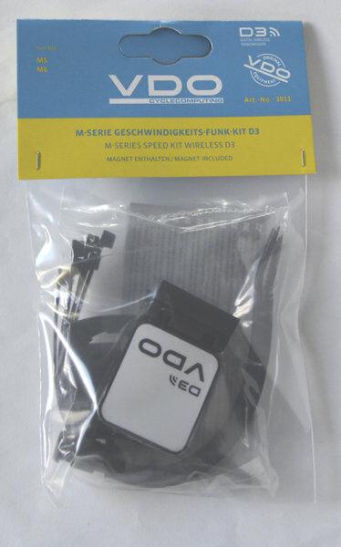 Vdo Kit trasmettitore velocità seconda bici M5/M6 - Black
