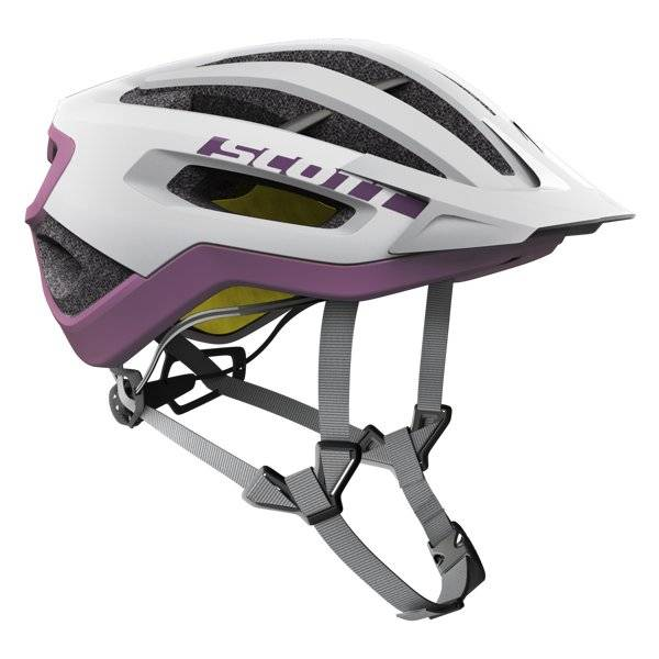 Scott Fuga Plus - casco bici - White/Purple