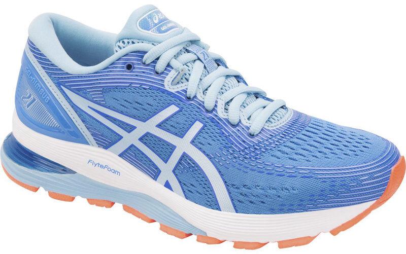 Asics GEL Nimbus 21 W - scarpe running neutre - donna - Blue/Light Blue