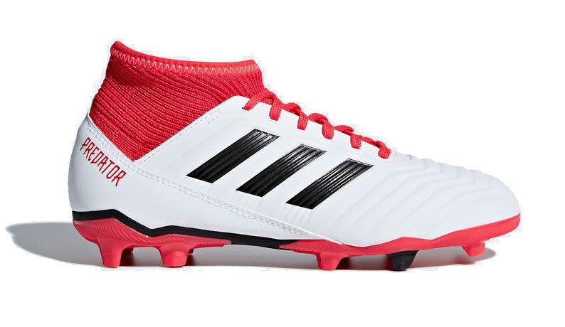 adidas Predator 18.3 FG Junior - scarpe da calcio per terreni compatti - bambino - White/Red