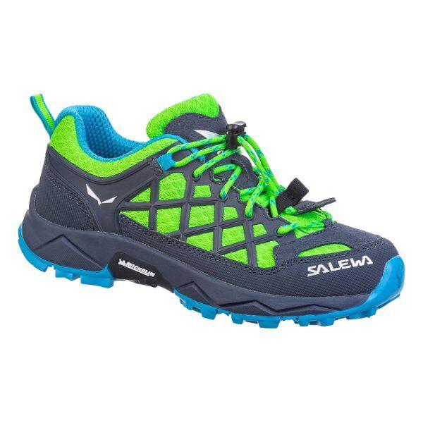 Salewa Wildfire - scarpe da trekking - bambino - Fluo Green