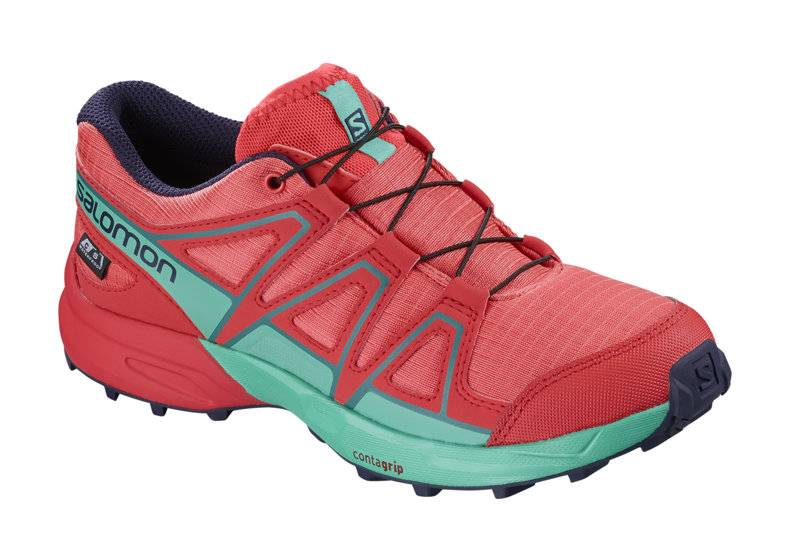 Salomon Speedcross CSWP - scarpa trailrunning - ragazzo - Red/Light Blue