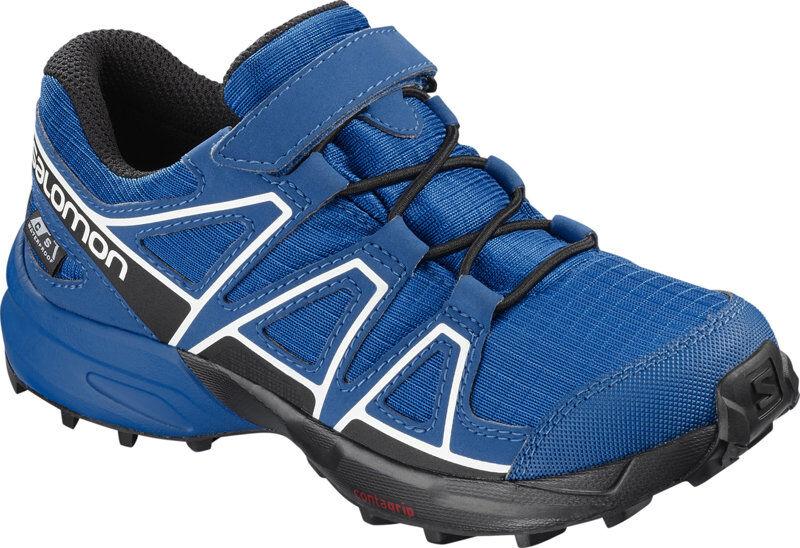 Salomon Speedcross CSWP K -  scarpe trail running - bambino - Blue