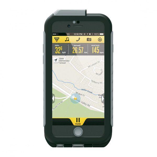 Topeak Weatherproof - custodia per iPhone 6 e per iPhone 6+ - Black/Grey
