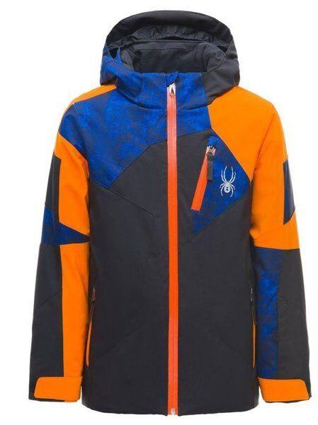 Spyder Boy `s Leader - giacca da sci - bambino - Grey/Orange