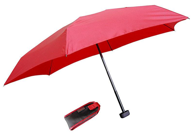 euroschirm dainty travel umbrella - ombrello mini - red