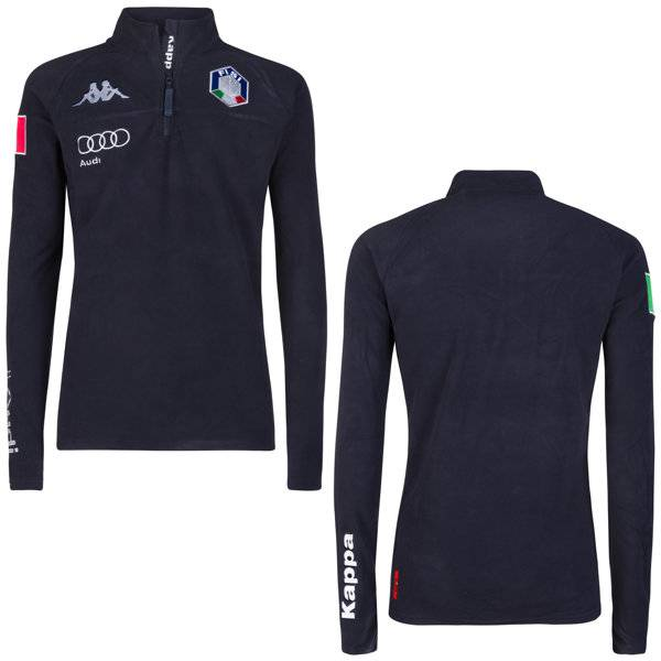 Kappa 6Cento 687B FISI - maglia in pile - uomo - Blue