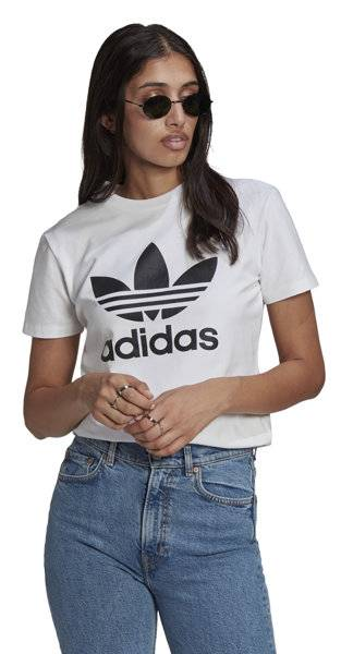 adidas originals trefoil - t-shirt - donna - white