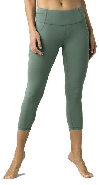 prana momento capri - leggins - donna - green
