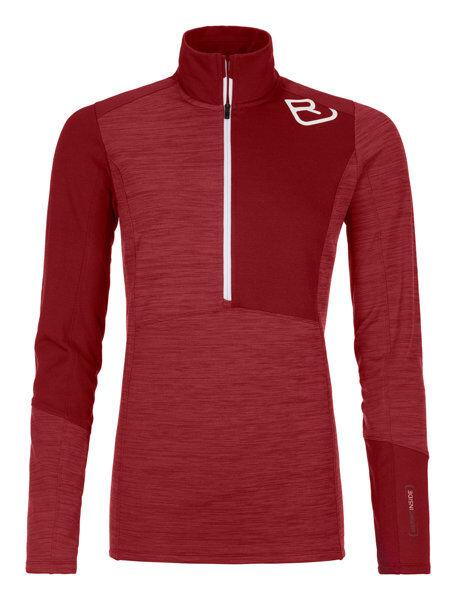 Ortovox Fleece Light Zip Neck - maglia a manica lunga - donna - Dark Red
