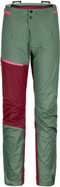 Ortovox Westalpen 3L Light - pantaloni alpinismo - donna - Green/Red