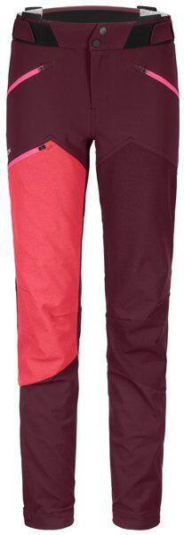 Ortovox Westalpen Softshell - pantaloni alpinismo - donna - Dark Red