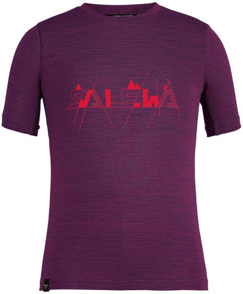 Salewa Graphic Dry K S/S - T-shirt - bambino - Violet