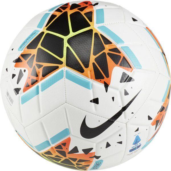 Nike Serie A Strike FA19 - pallone da calcio - White/Black/Blue/Orange