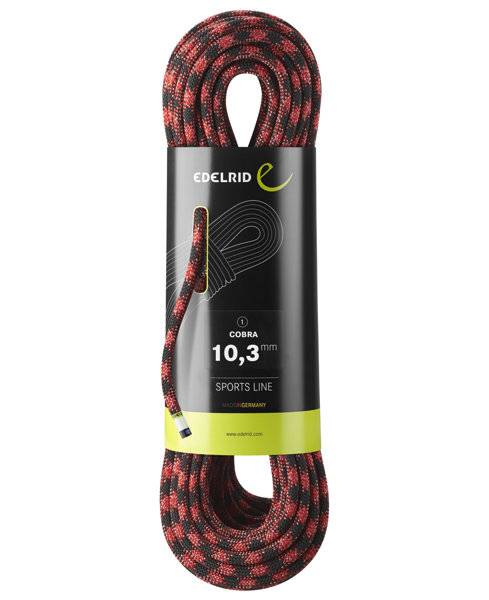 Edelrid Cobra 10,3 mm - corda singola - Red/Black