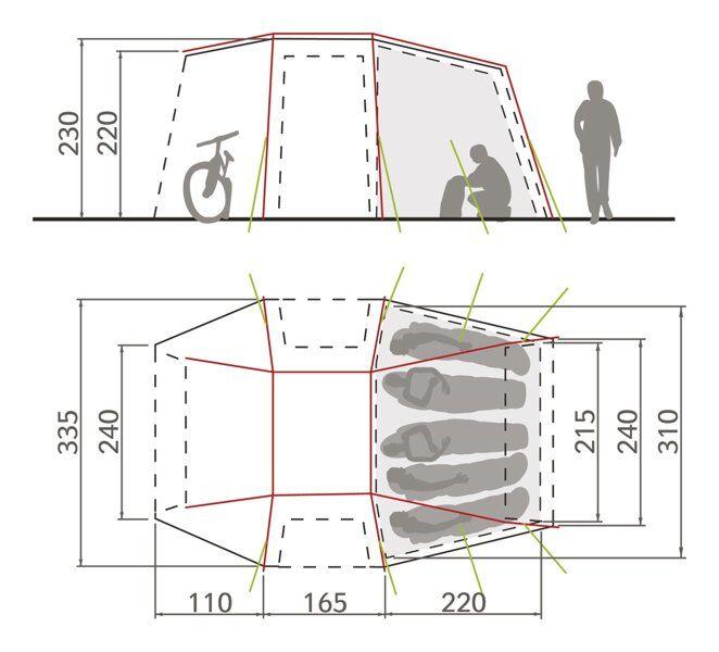 Vaude Drive Van XT 5P - tenda preingresso per camper - Beige