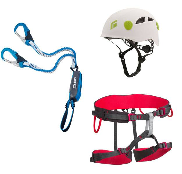 Black Diamond Kit composto da imbrago + set via ferrata + casco - BD Orange
