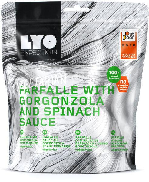 Lyo Food Farfalle with Gorgonzola and Spinach Sauce - cibo da trekking