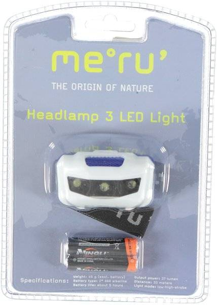 Meru Headlamp 3 LED Light - Lampade frontali - White/Blue/Black