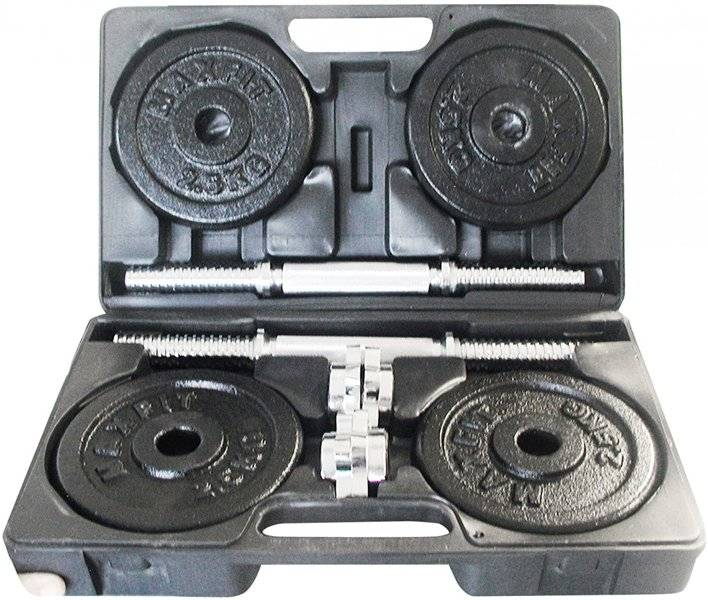 Garlando Set di manubri 20 kg - Attrezzatura per l'allenamento della forza - Black