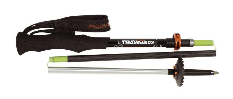 Komperdell Carbon Trail Stick Vario Compact - bastoncini trailrunning - Black/Red
