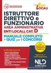 Istruttore direttivo e funzionario area