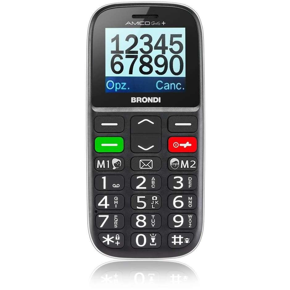 Brondi Amico Gentile + Telefono Cellulare Dual Sim Display 1,77 Pollici Colore N