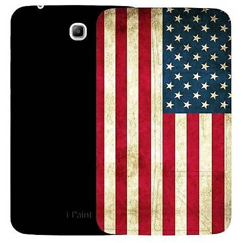 I-PAINT Custodia 190501 Ipaint Genius Case Usa Flag Galaxy Tab3 7""