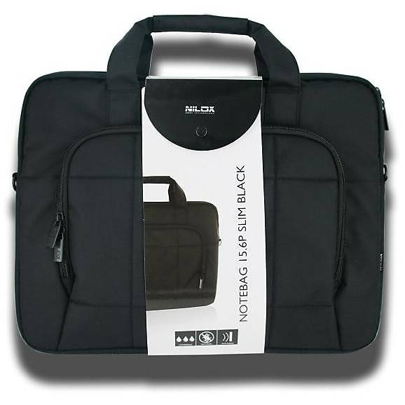 NILOX Custodia Notebag 15.6p Slim Black Nilox