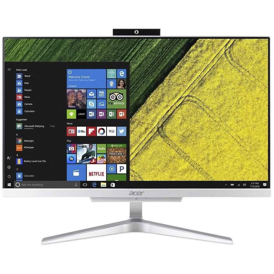 """Acer Aspire C22-860 Pc All In One Monitor 21,5"""" Fhd Intel Core I3-7100 Ram 4 Gb"""