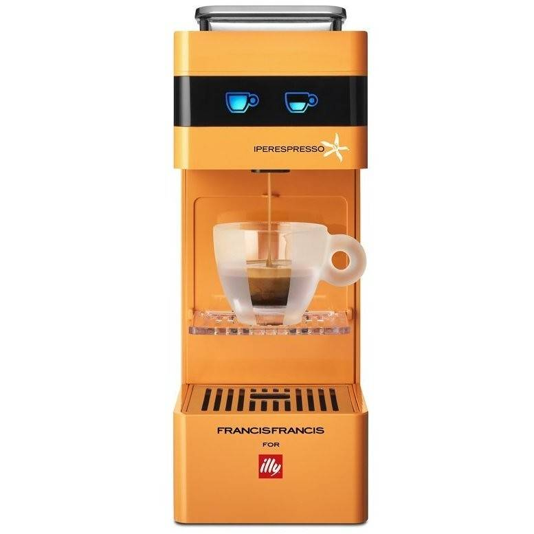 ILLYCAFFè Illy Y3 Macchina Del Caffè Con Sistema Capsule Capacità 0.75 L Colore Arancione