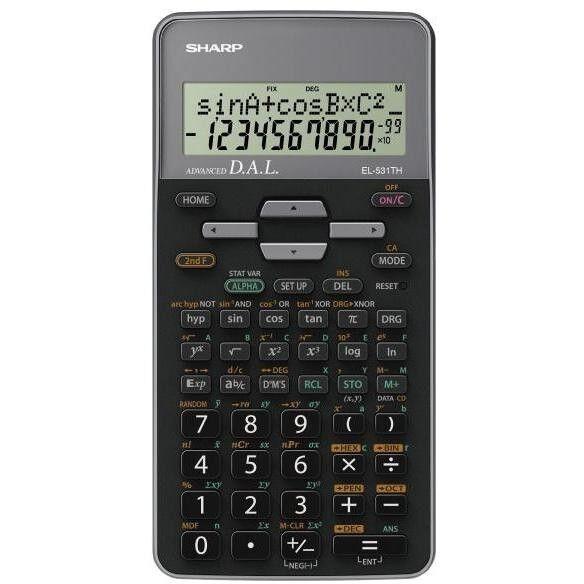 Sharp El531thb-Gy Calcolatrice Scientifica Display Lcd 2 Righe 273 Funzioni Colo