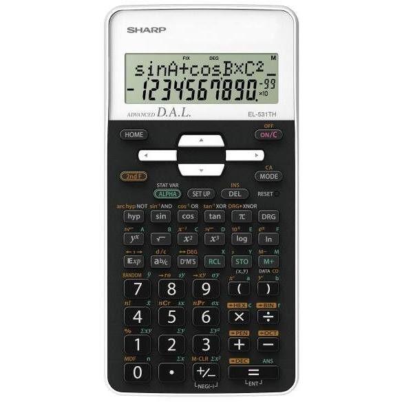 Sharp El531thb-Wh Calcolatrice Scientifica Display Lcd 2 Righe 273 Funzioni Colo