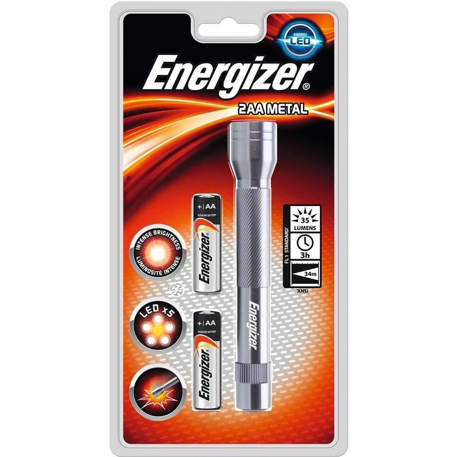 Energizer Torcia Metal Led 2 X Aa Incluse Cf008