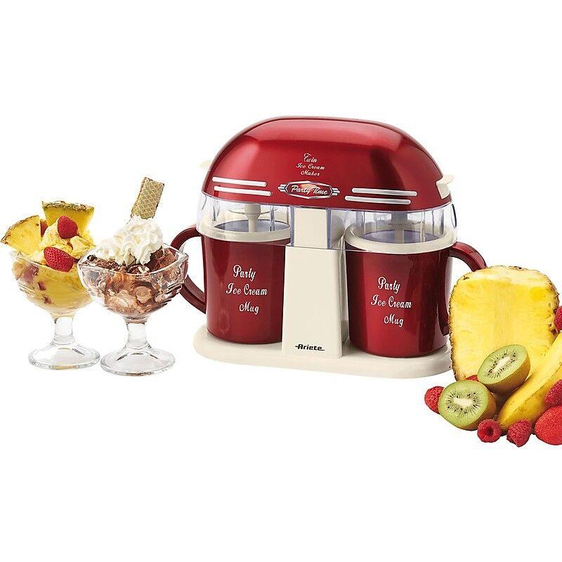 Ariete 631 Ariete Twin Ice Cream Maker Gelatiera A Doppia Tazza Colore Rosso