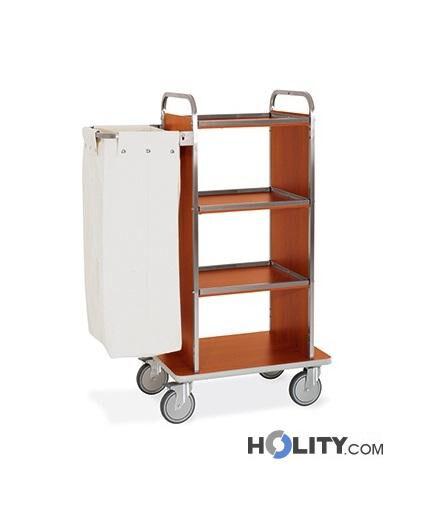 carrello portabiancheria per hotel-4 piani-base 72 cm-h2200140