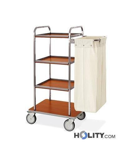 carrello portabiancheria per hotel-4 piani aperti-h2200141