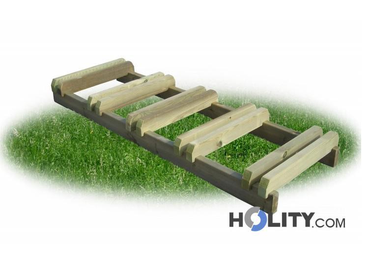 portabici in legno 5 posti h28712