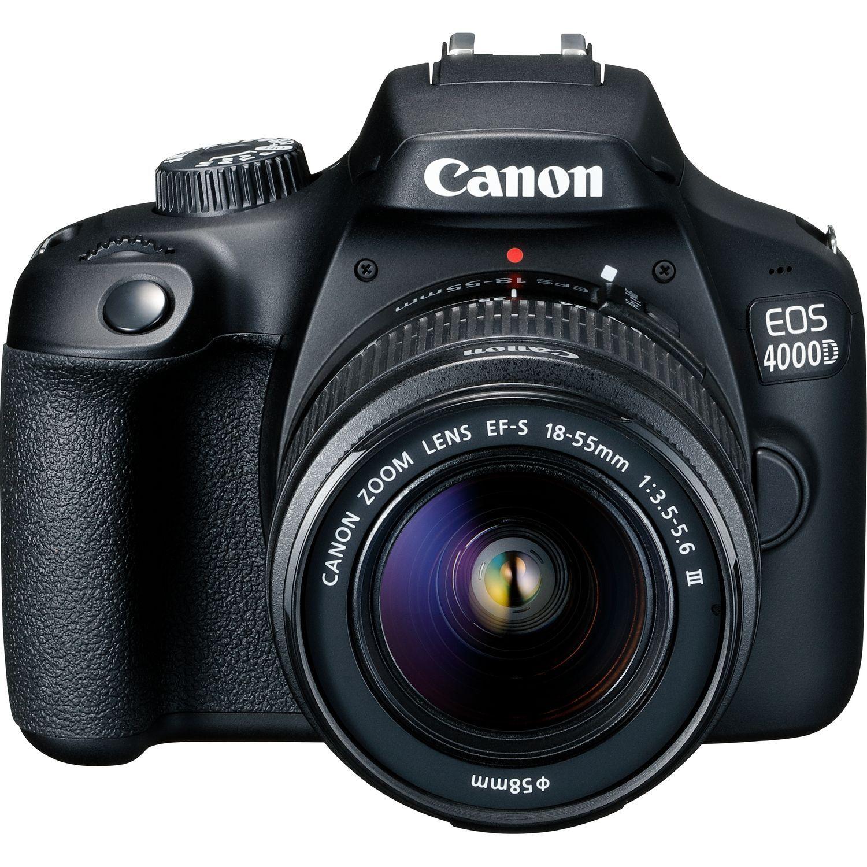 Canon EOS 4000D + EF-S 18-55 F/3.5-5.6 DC III - 4 ANNI DI GARANZIA IN ITALIA