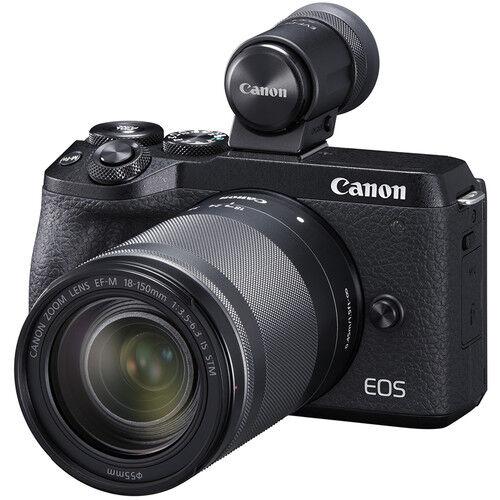 Canon EOS M6 MARK II + EF-M 18-150mm IS STM + EVF DC2 - NERA - 4 Anni di Garanzia in Italia