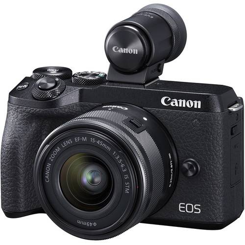 Canon EOS M6 MARK II + EF-M 15-45mm IS STM + EVF DC2 - NERA - 4 Anni di Garanzia in Italia
