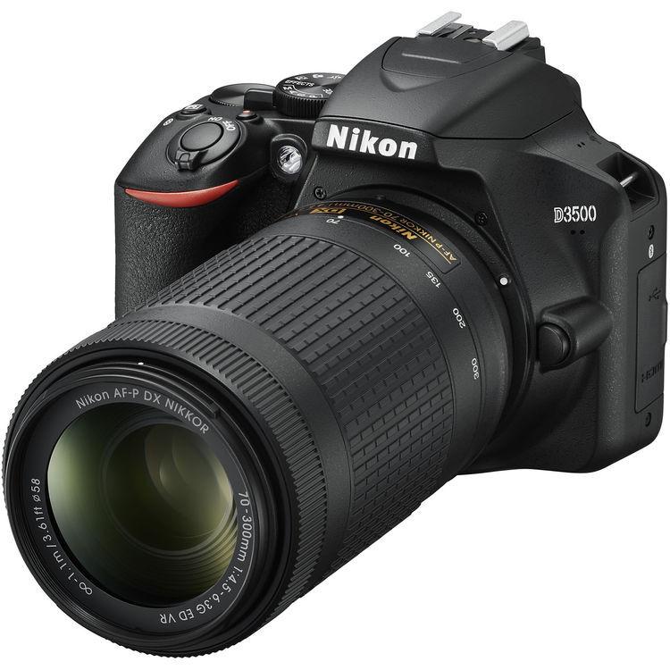 Nikon D3500 + 18-55mm AF-P DX VR + 70-300 AF-P DX VR - 2 Anni di Garanzia in Italia