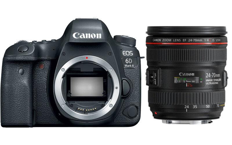 Canon EOS 6D Mark II + 24-70mm F/4L IS USM - 4 Anni Di Garanzia in Italia