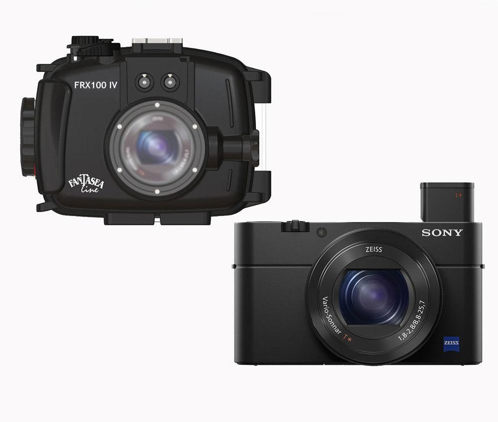 Sony Cyber-Shot DSC-RX100 IV + FANTASEA FRX100 IV - Custodia Subacquea