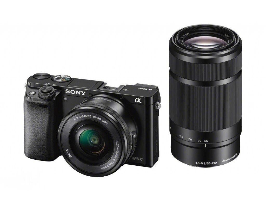 Sony ALPHA A6000 + 16-50mm + 55-210mm - NERO - 4 ANNI DI GARANZIA