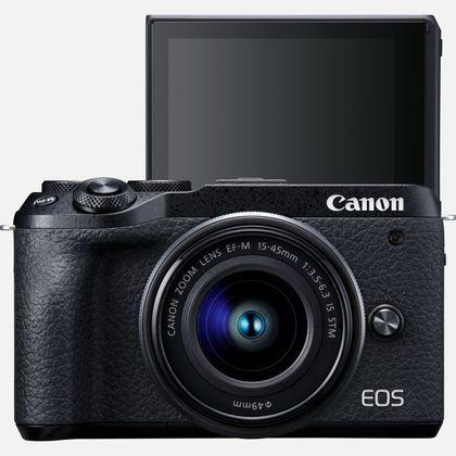 Canon EOS M6 MARK II + EF-M 15-45mm IS STM - NERA - 2 Anni di Garanzia in Italia