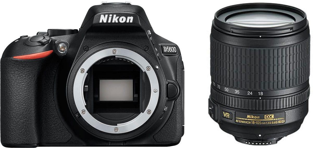Nikon D5600 + 18-105mm VR - 4 Anni Di Garanzia in Italia